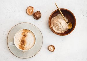Mushroom coffee, Caffè ai funghi